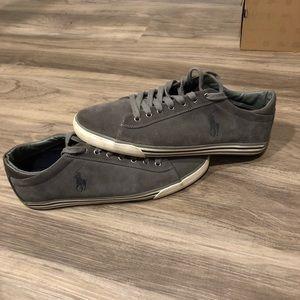 Polo by Ralph Lauren Shoes - Ralph Lauren Polo Harvey Suede Sneakers, Gray - 13